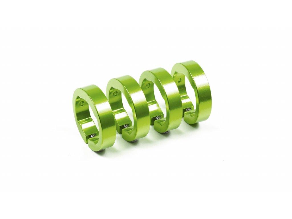 Objímky gripů Sixpack Lock-On zelená