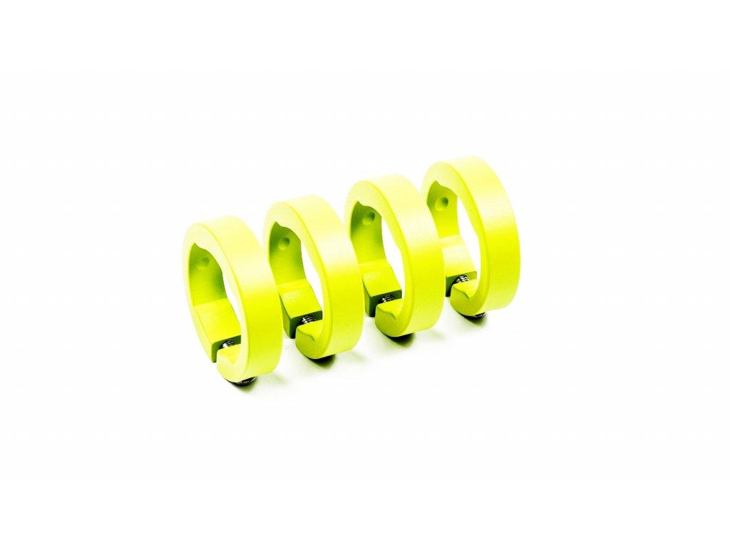 Objímky gripů Sixpack Lock-On žlutá