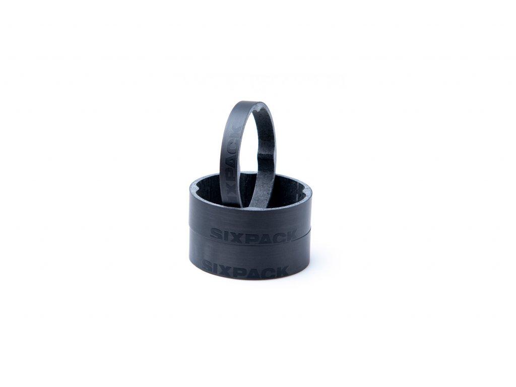 """Podložka hlavového složení Sixpack Vertic Carbon 1-1,8"""" černá"""
