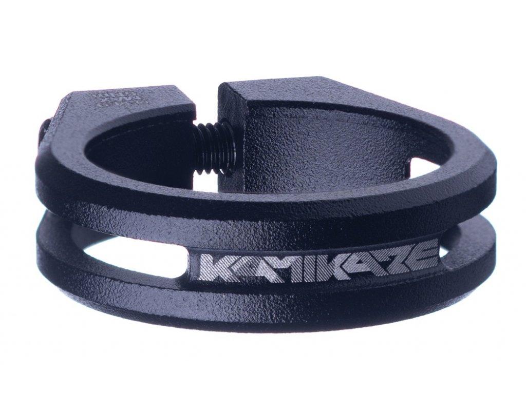 Sedlová objímka Sixpack Kamikaze 34,9 mm černá