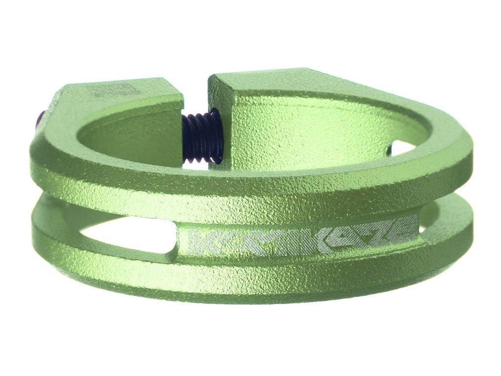 Sedlová objímka Sixpack Kamikaze 34,9 mm zelená