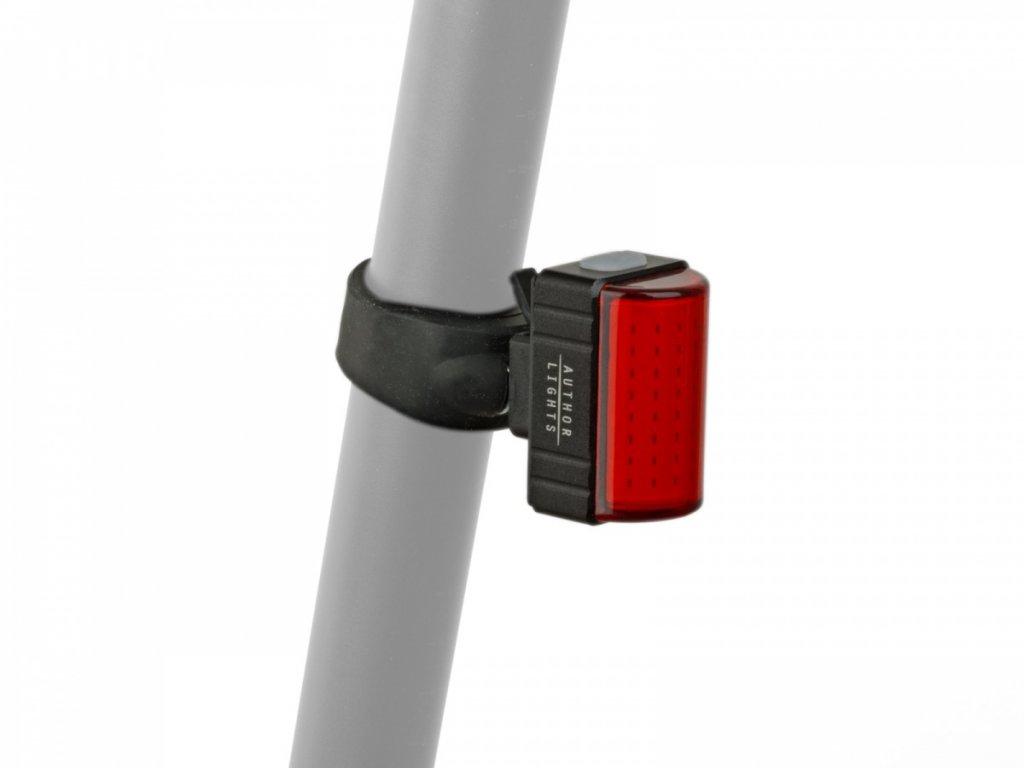 AUTHOR Světlo zad. A-Square USB CobLed 100 lm  (černá/červené-sklo)