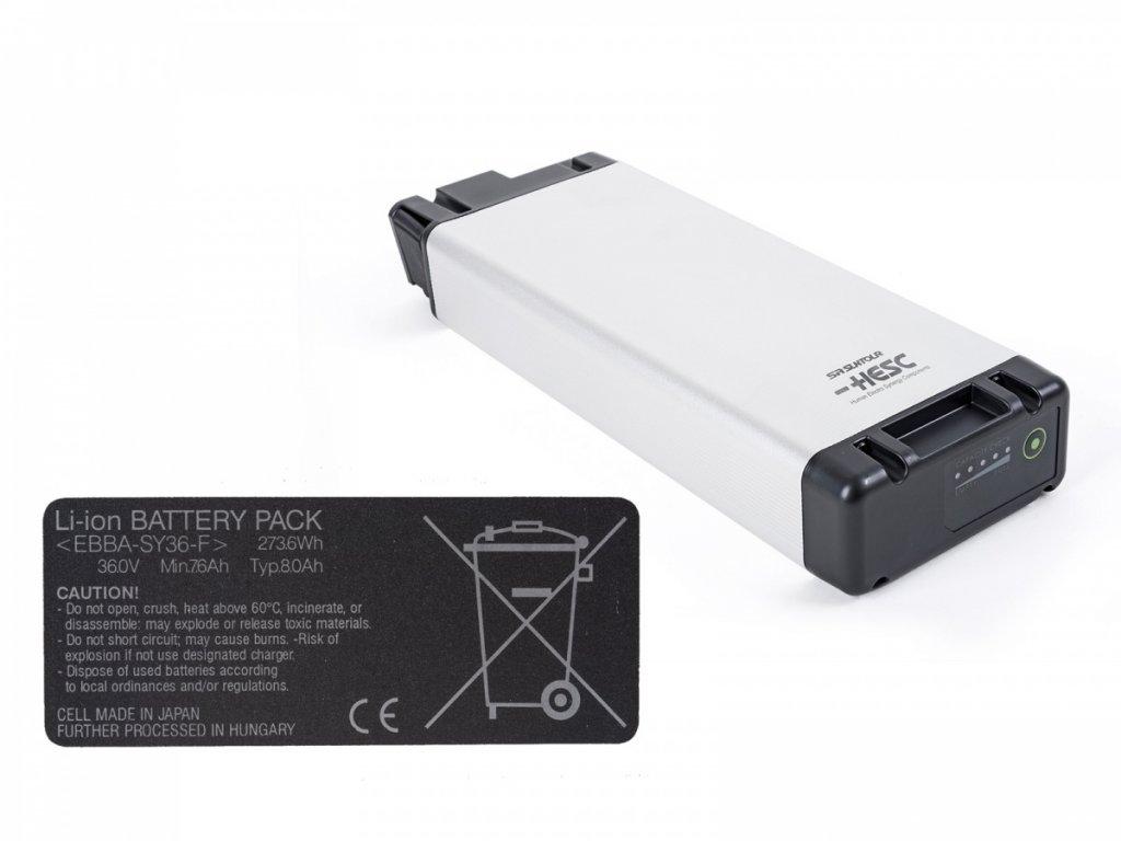 AUTHOR Baterie náhradní Sanyo Li-ion, 36V, 8.0 Ah, 290Wh 2014 černá Author