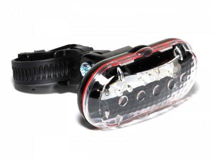 CYCLONE Světlo př. TL-20 F 5 LED  (černá/čiré-sklo)