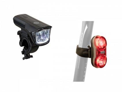 AUTHOR Světlo sada Xray 150 lm / Duplex X7  20lm  (černá)
