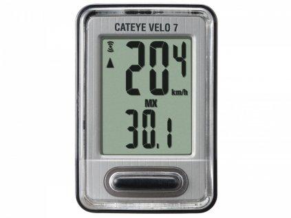 CATEYE Cyklopočítač CAT Velo 7 (VL520)  (černá/stříbrná)