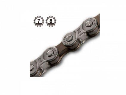 AUTHOR Řetěz KMC Z72 114/6-8  (šedá/hnědá)