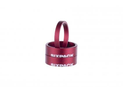 """Podložka hlavového složení Sixpack Menace 1-1,8"""" červená"""