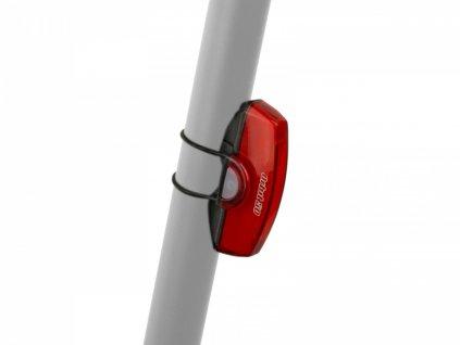 AUTHOR Světlo zad. A-Orbit USB COBLed 50 lm  (černá/červené-sklo)