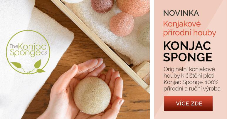 100% přírodní konjakové houby pro čištění pleti