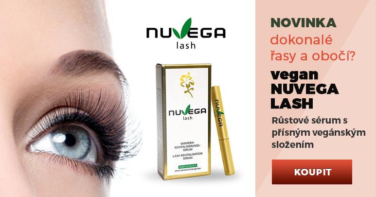 NUVEGA LASH - Veganské růstové sérum zahušťuje a podporuje růst řas i obočí. Pro domácí i profesionální použití.