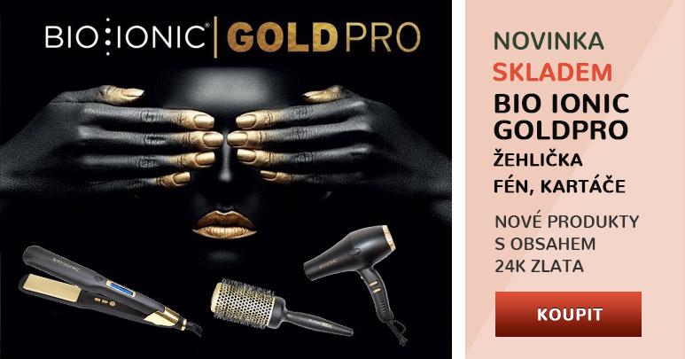 Nová řada Bio Ionic GoldPro s obsahem 24k zlata