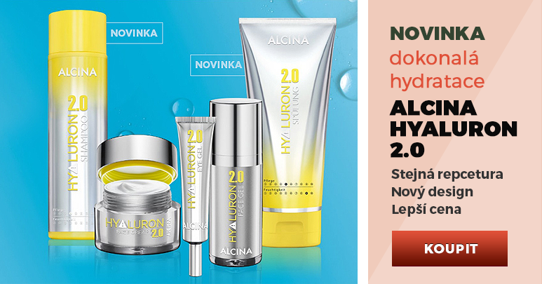 Alcina Hyaluron 2.0 - Stejná receptura, nový design, lepší cena...