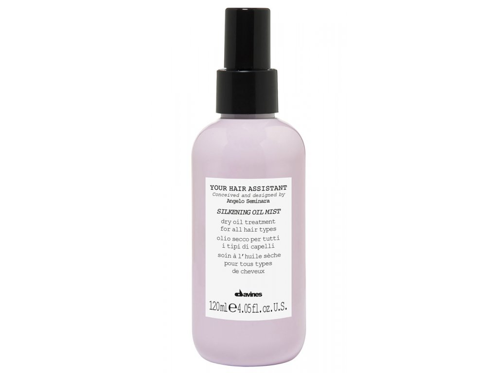 Davines Assistant Silkening Oil Mist - uhlazující suchý olej na vlasy ve spreji 120ml