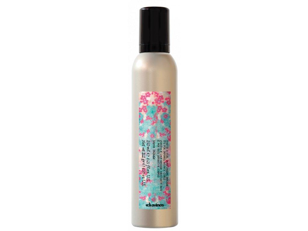 Davines More Inside Curl Moisturizing Mousse - pěna na vlnité vlasy se střední fixací 250 ml