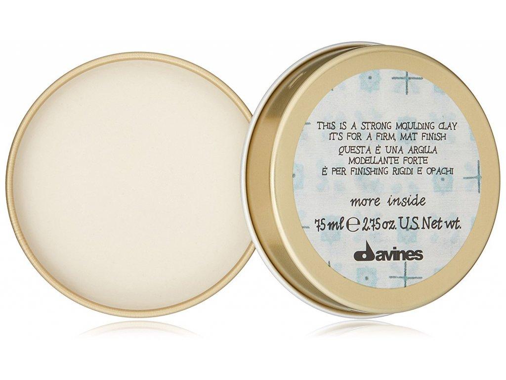 Davines More Inside Strong Moulding Clay - silně fixační jíl na vlasy s matným efektem 75 ml