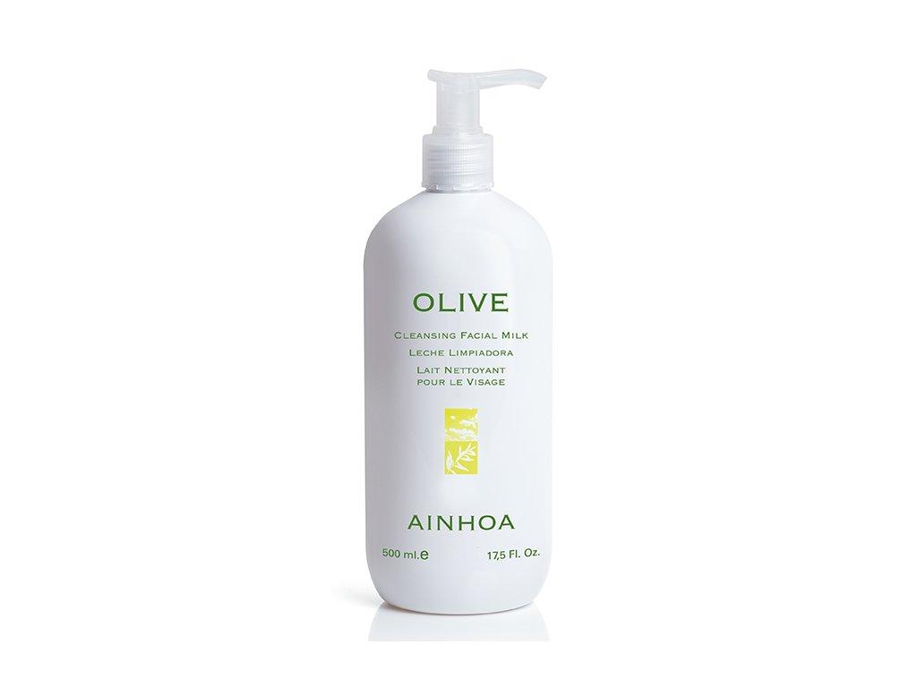 Ainhoa Olive Cleansing Milk – čisticí pleťové mléko pro suchou pleť 500ml