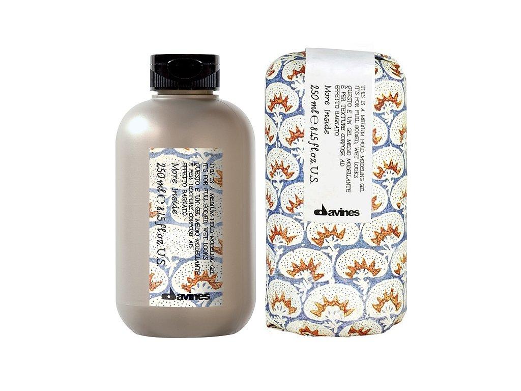 Davines More Inside Medium Hold Modeling Gel - středně tužicí gel na vlasy pro uhlazený mokrý vzhled 250 ml