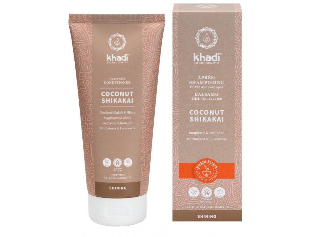 Khadi Kokos Shikakai - přírodní kondicionér pro všechny typy vlasů 200ml