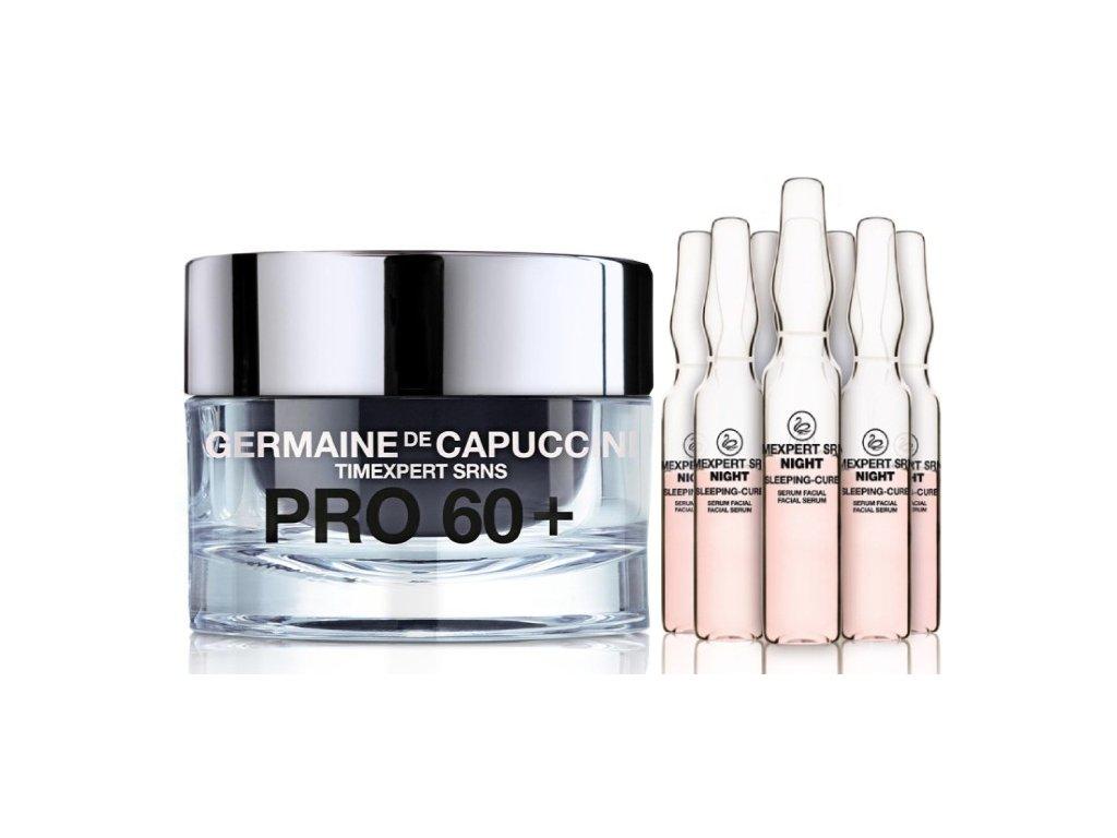 Germaine de Capuccini Timexpert Srns 60+ Renacer Set - výživný krém pro zralou pleť 60+ 50ml + detoxikační noční kúra 10x2ml