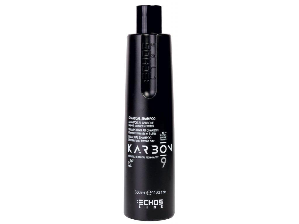 Echosline Karbon 9 - šampon s aktivním uhlím na namáhané vlasy