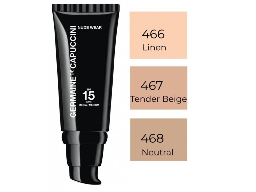 Germaine de Capuccini Nude Wear SPF15 – lehký make-up s efektem nahé pleti 30ml