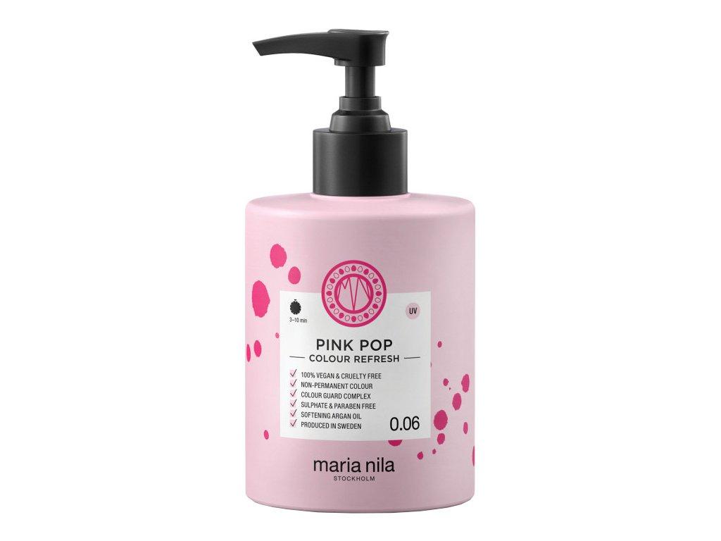 Maria Nila Colour Refresh Pink Pop 0.06 – výživná maska na vlasy s barevnými pigmenty odstín růžová 300ml