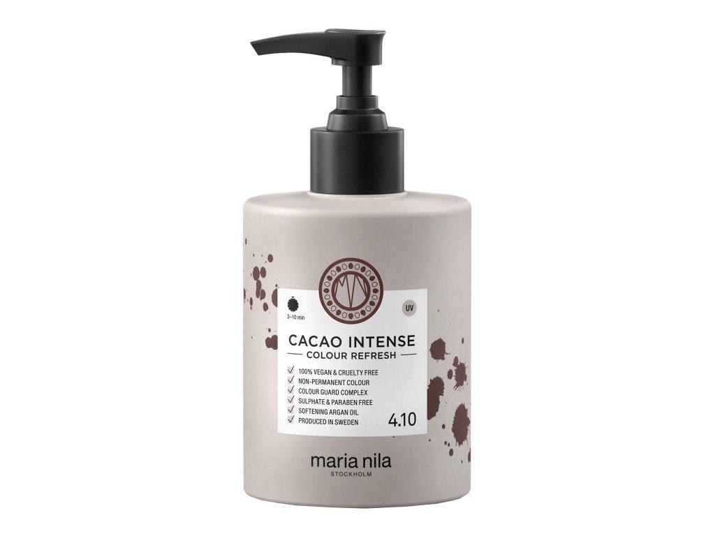 Maria Nila Colour Refresh Cacao Intense 4.10 – výživná maska na vlasy s barevnými pigmenty odstín tmavě hnědá 300ml
