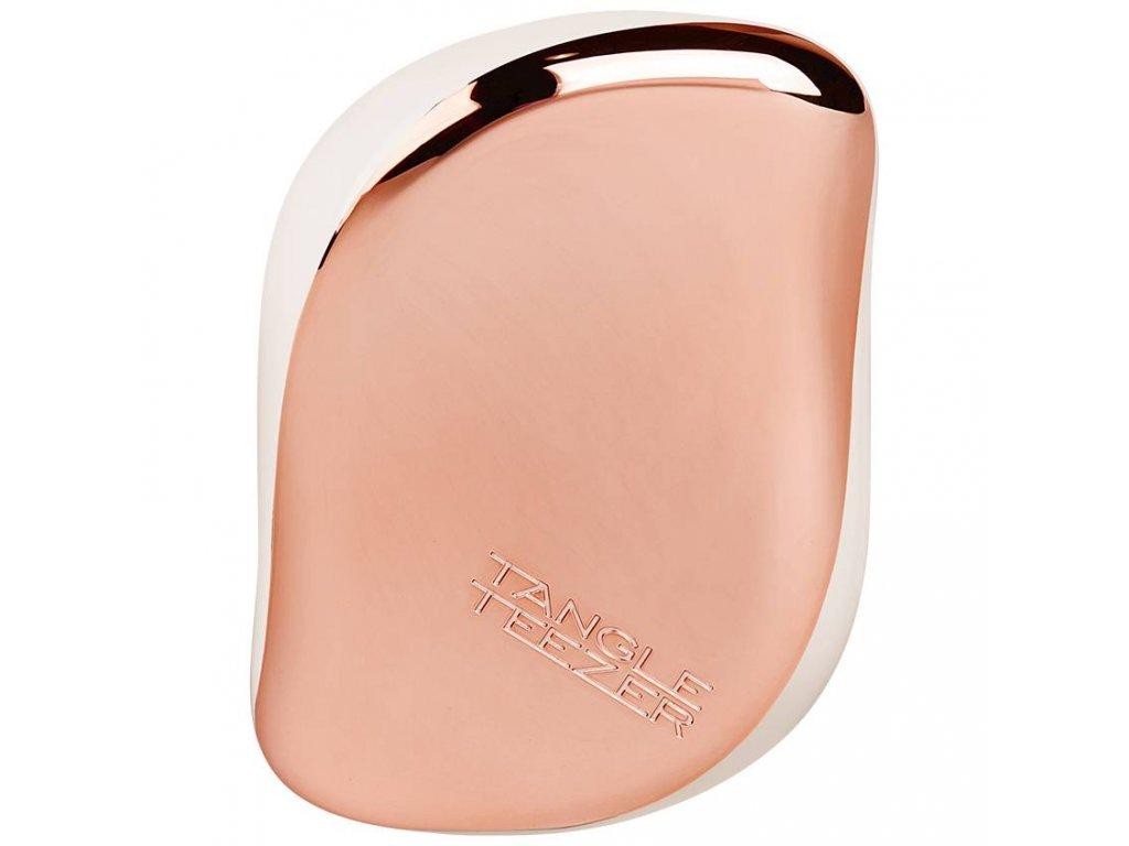 Tangle Teezer Compact Styler Rose Gold Cream – kompaktní kartáč na vlasy 1ks