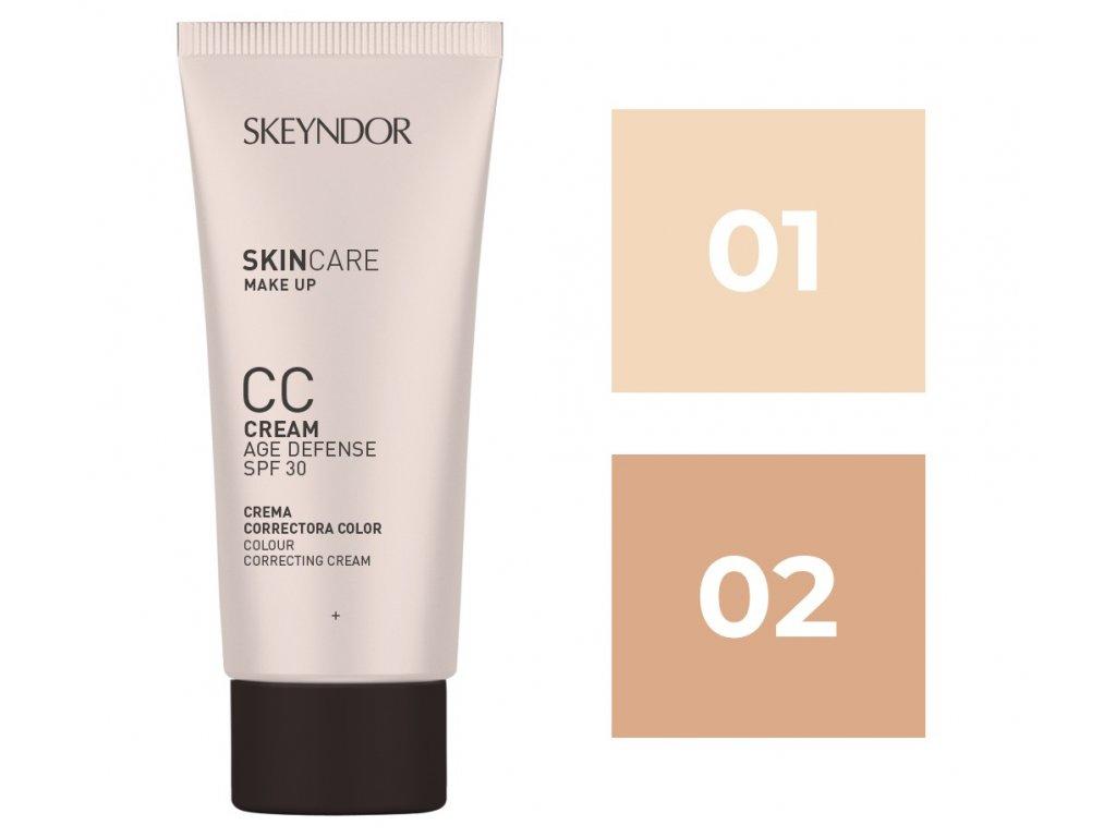 Skeyndor Skincare Makeup CC Cream SPF30 – lehký tónovací CC krém pro všechny typy pleti 40ml