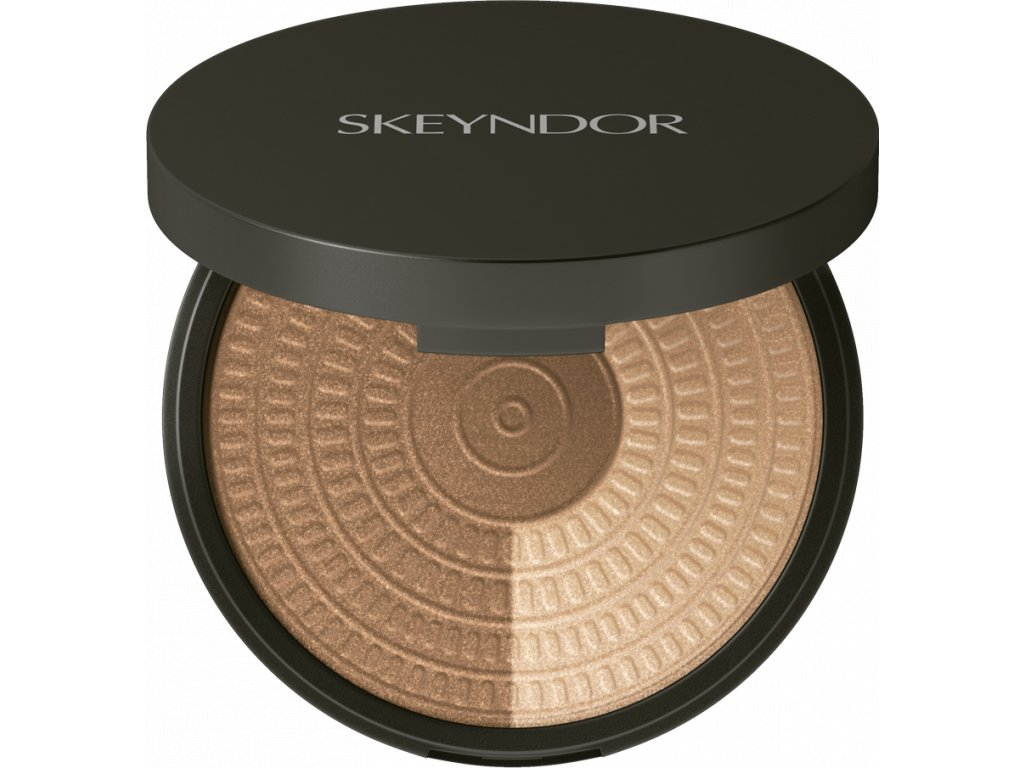 Skeyndor Skincare Makeup – rozjasňující dvoubarevný pudr 12,4g