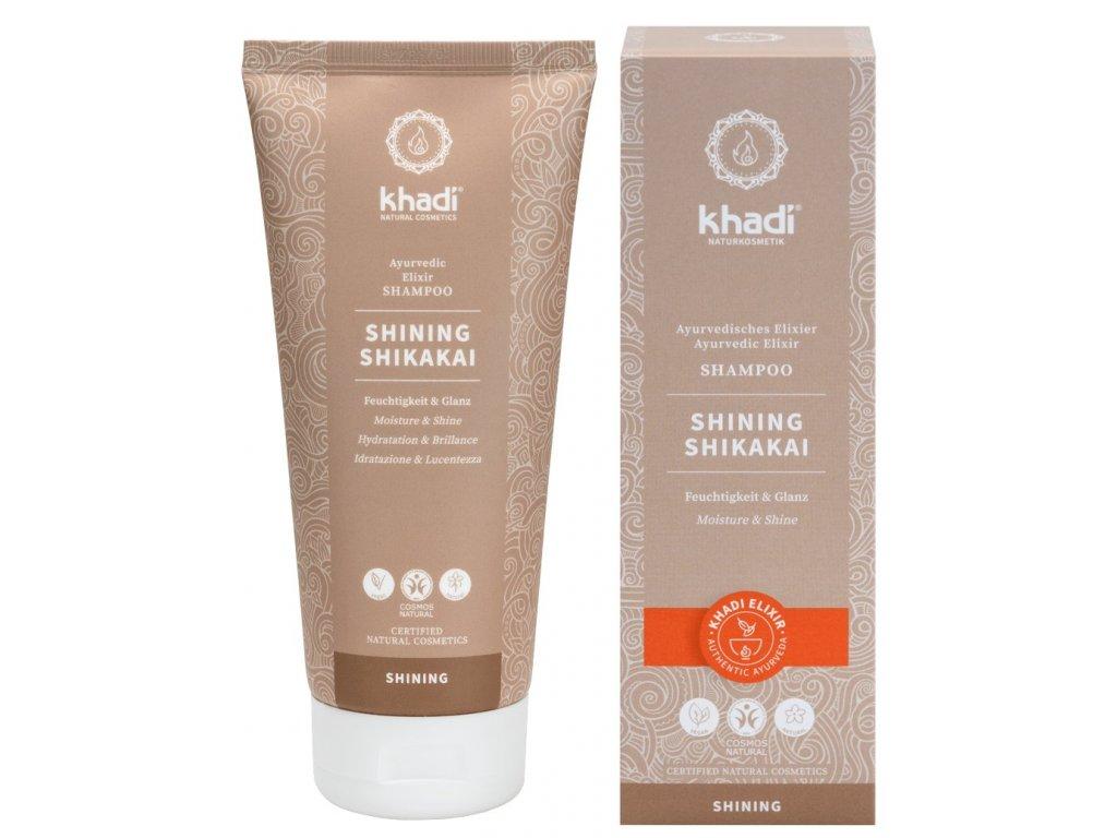 khadi ayurvedisches elixier shampoo shining shikak