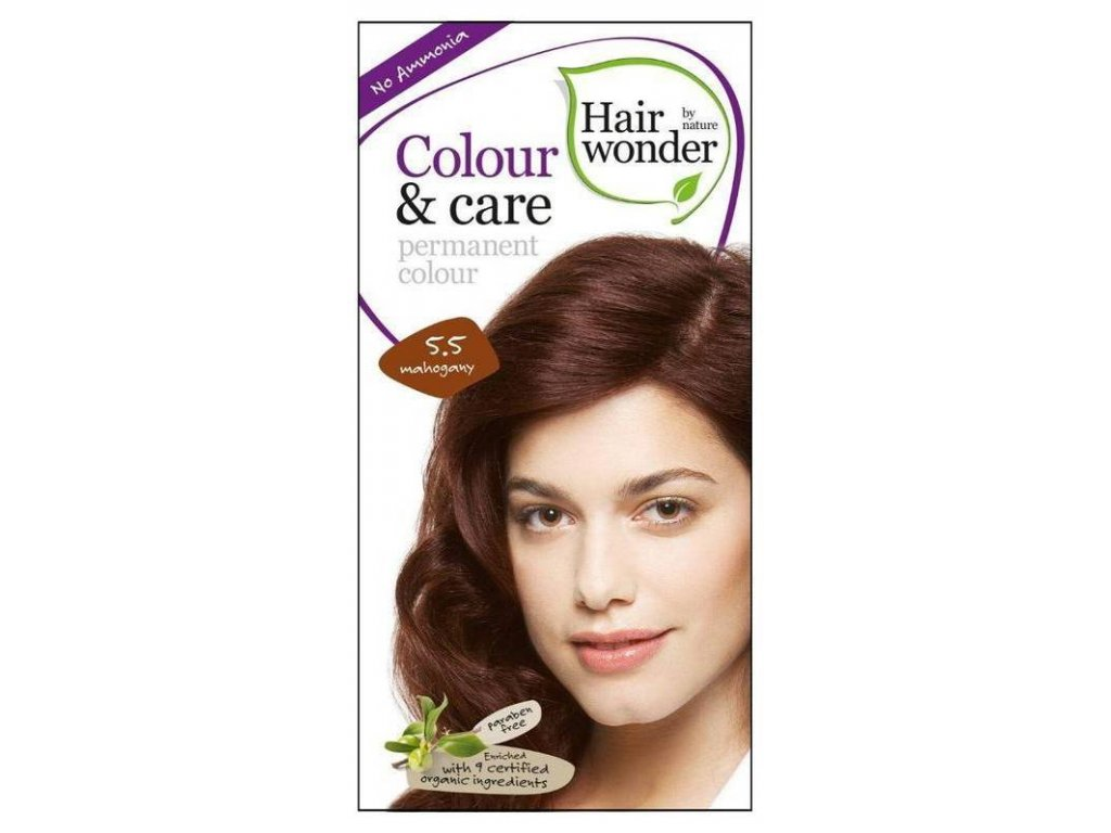 Hairwonder Colour & Care - přírodní dlouhotrvající barva na vlasy 100ml