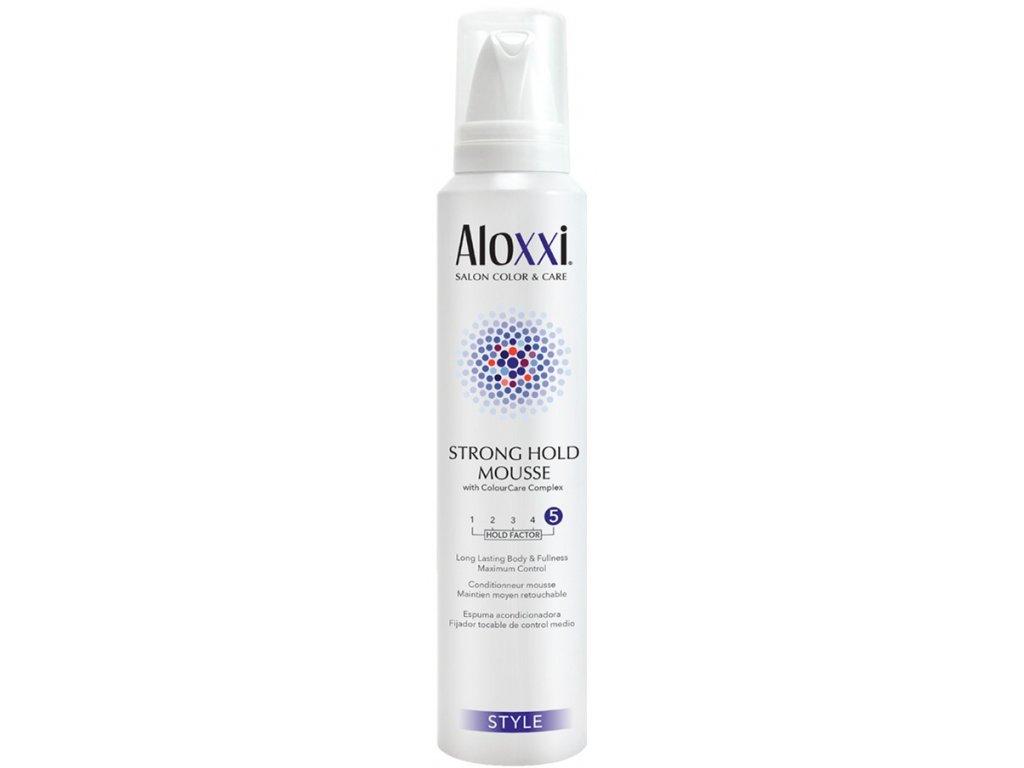 Aloxxi Strong Hold Mousse - pěnové tužidlo pro objem vlasů 196 ml
