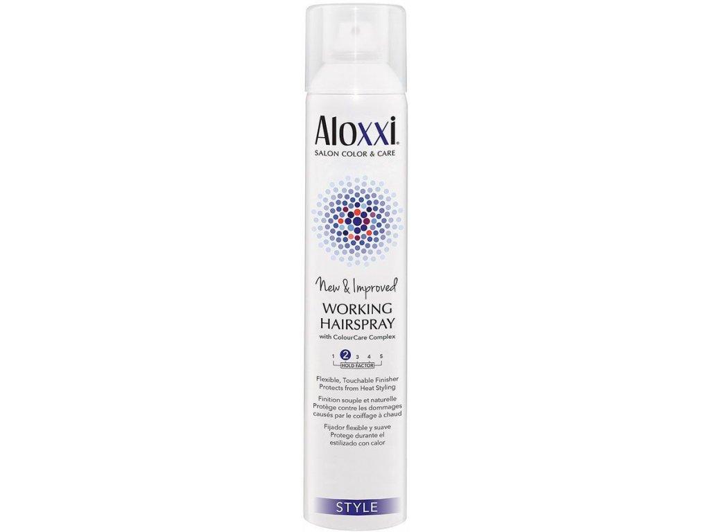 Aloxxi Working Hairspray - flexibilní lak s tepelnou ochranou