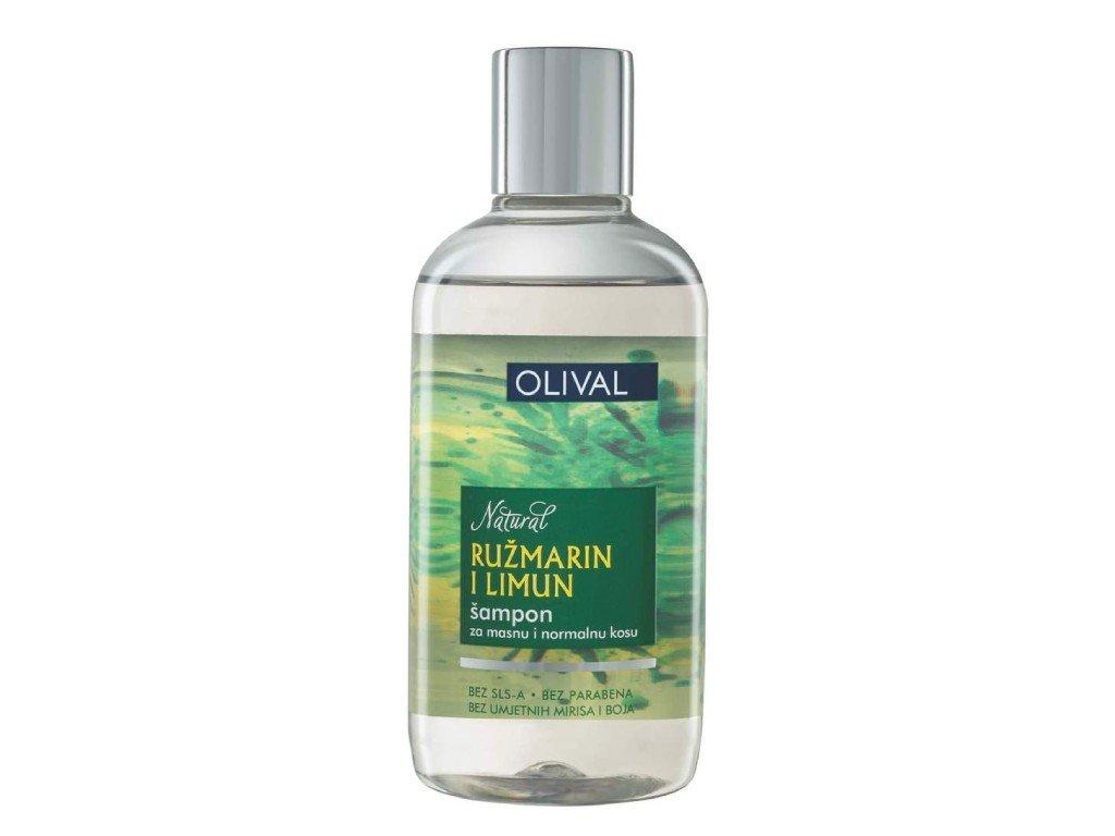 Olival Natural Hair - přírodní rozmarýnový a citronový šampon 250 ml