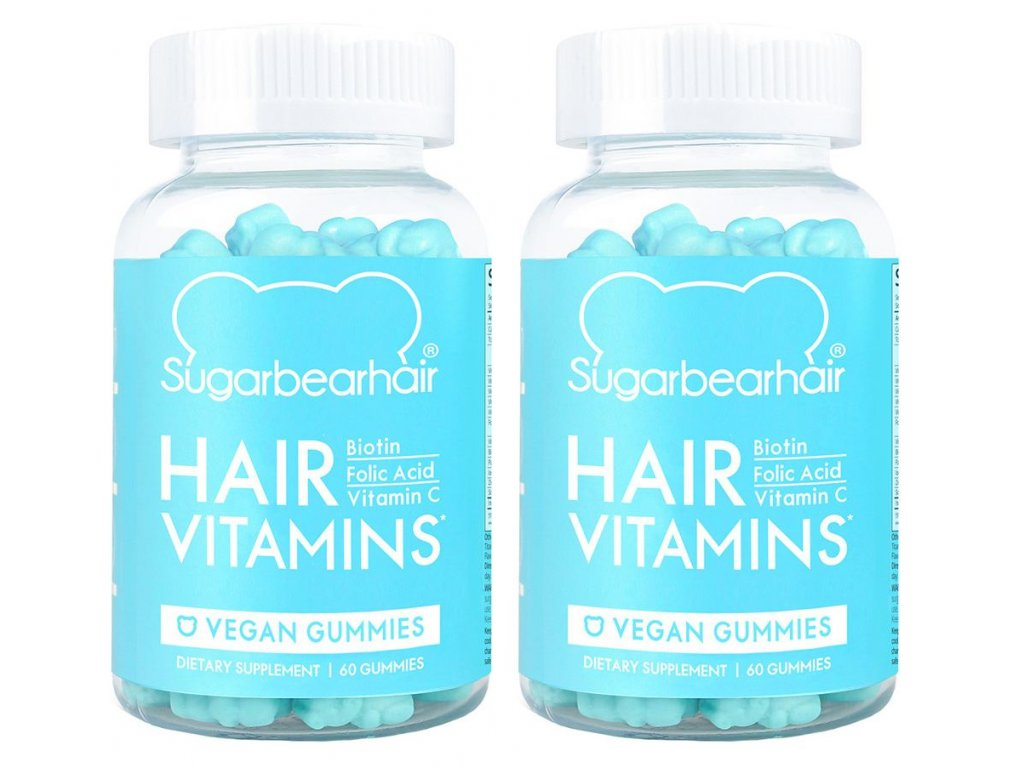 SugarBearHair Hair Vitamins – vegetariánské vitamíny pro růst vlasů 2x60ks