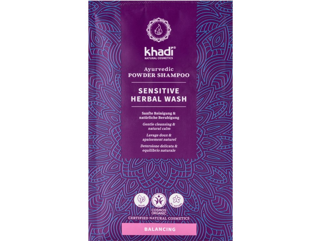 khadi ayurvedisches pulvershampoo herbal wash 9013