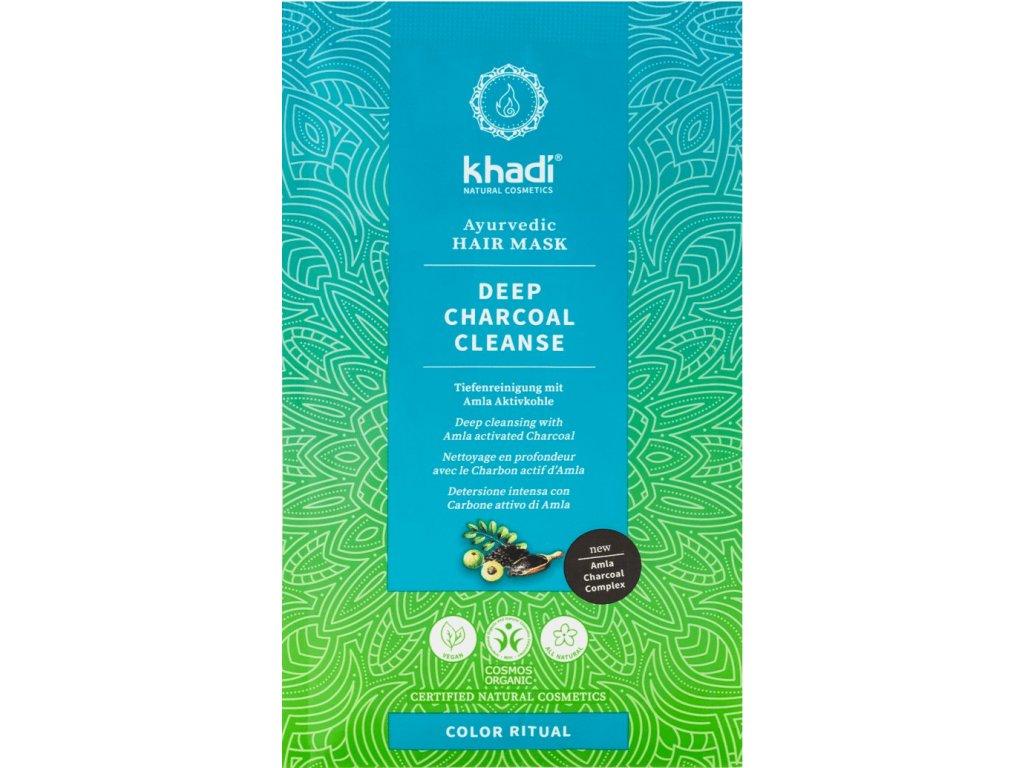khadi ayurvedic hair mask detox charcoal 8769 kh h