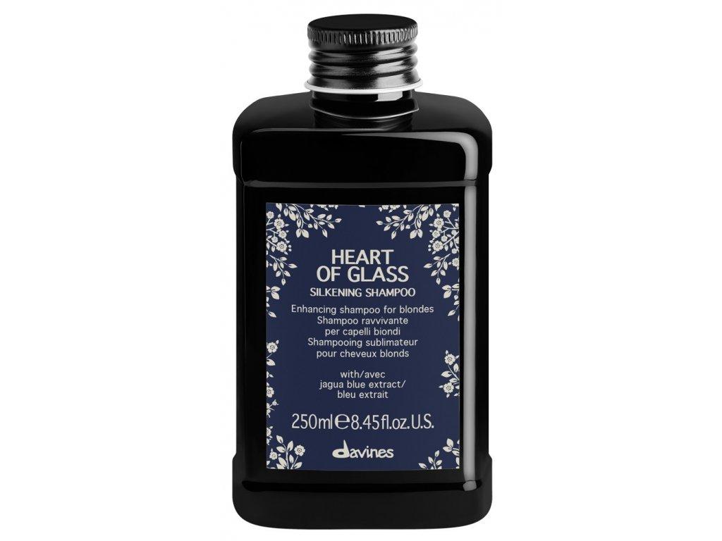 Davines Heart of Glass Silkening Shampoo - posilující šampon pro blond vlasy