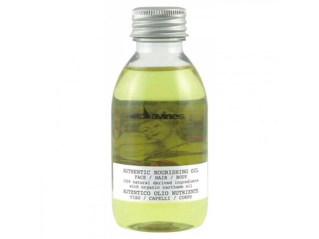 davines authentic nourishing oil face hair body 140ml