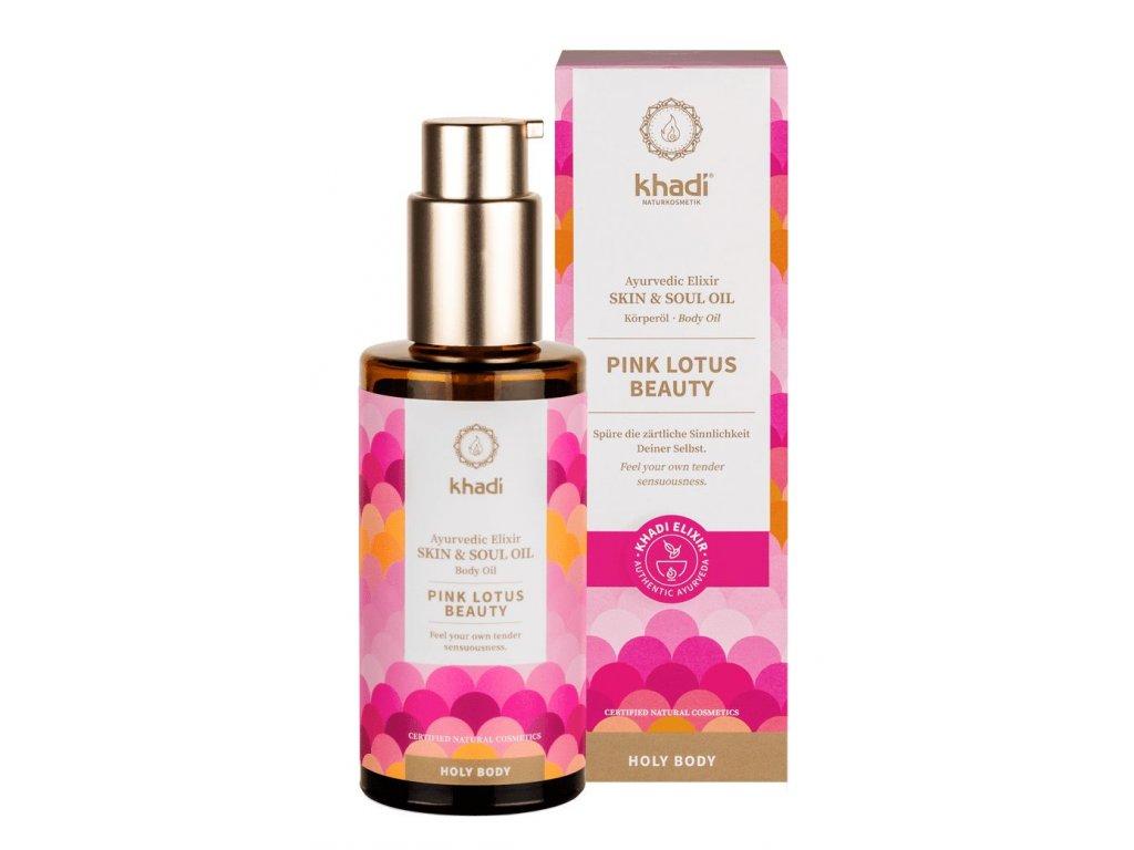 Khadi Elixir Skin & Soul Oil Pink Lotus Beauty 100ml