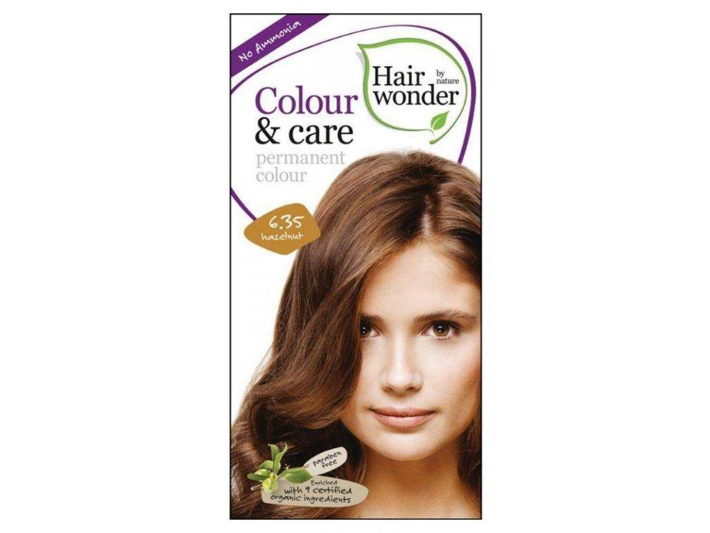 Hairwonder Colour & Care - dlouhotrvající barva na vlasy 6.35 Oříšková 100 ml