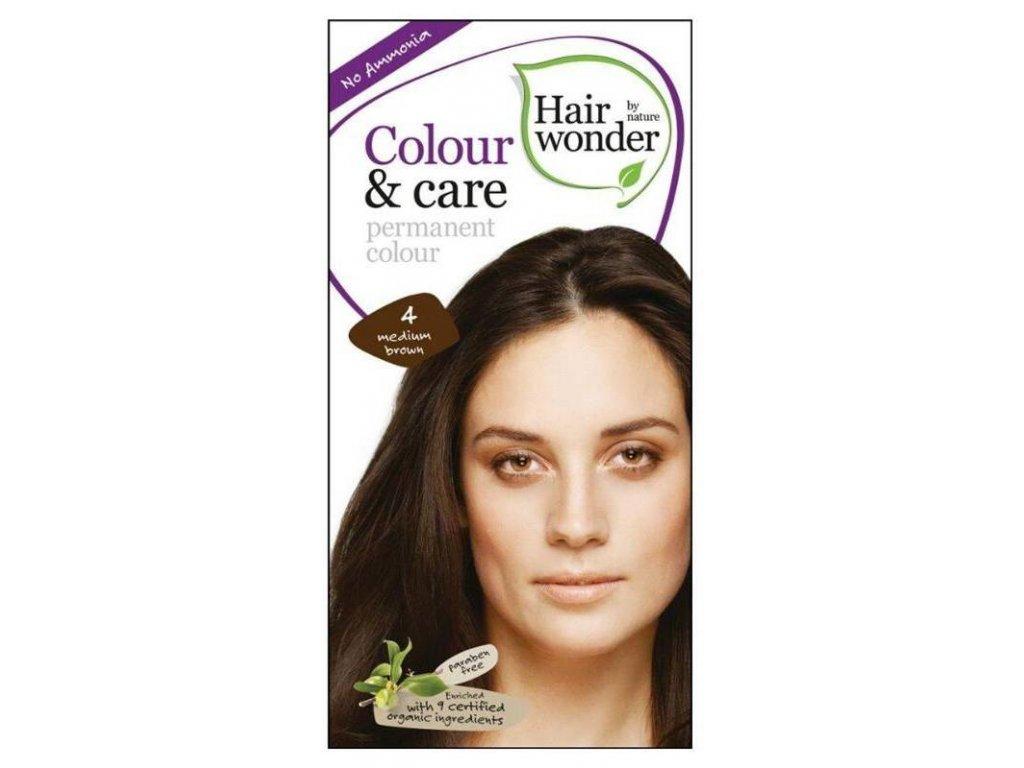 Hairwonder Colour & Care - dlouhotrvající barva na vlasy 4.0 Středně hnědá 100 ml