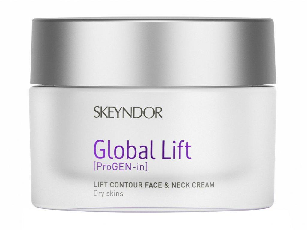 Skeyndor Global Lift Lift Contour Face & Neck Cream – liftingový krém na obličej, krk a dekolt pro suchou pleť 50ml
