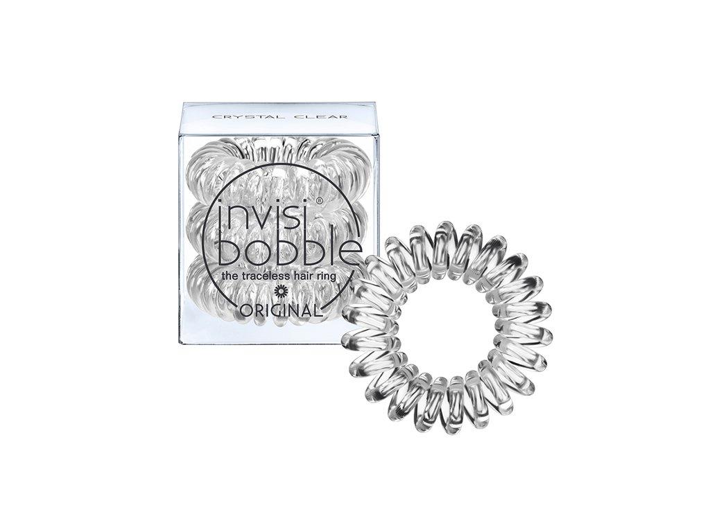 Invisibobble ORIGINAL Crystal Clear - gumička do vlasů transparentní 3ks