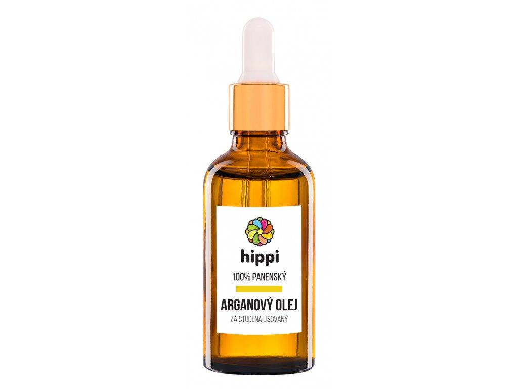 Hippi Organic - 100% panenský arganový olej na vlasy a pleť