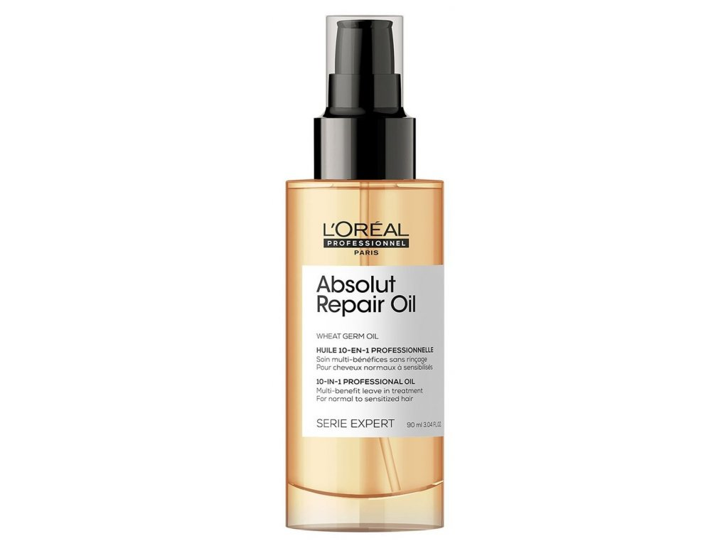 Loréal Professionnel Expert Absolut Repair 10-in-1 Oil - olejová bezoplachová péče pro normální až zcitlivělé vlasy 90 ml