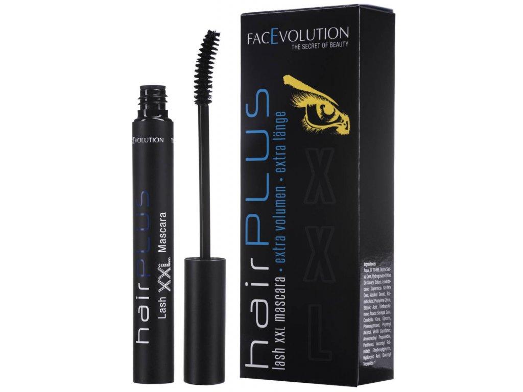 Hairplus Lash XXL Mascara – objemová řasenka s peptidy pro podporu růstu řas 6ml