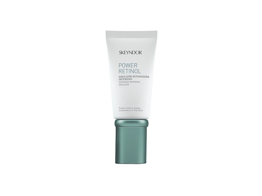 Skeyndor Power Retinol Intensive Repairing Emulsion – intenzivní reparační emulze s retinolem na smíšenou a mastnou pleť 50 ml